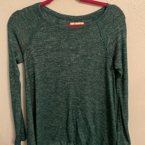 forest green long sleeve knit top